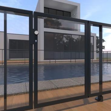 Porta de piscina para...
