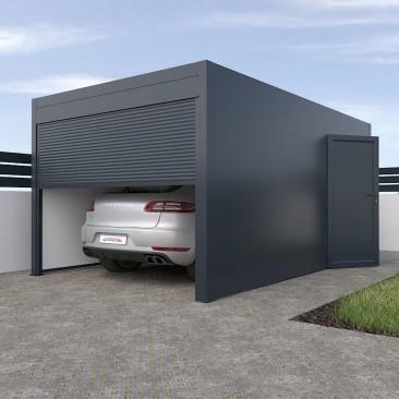 Garagem 5 x 3m telhado plano