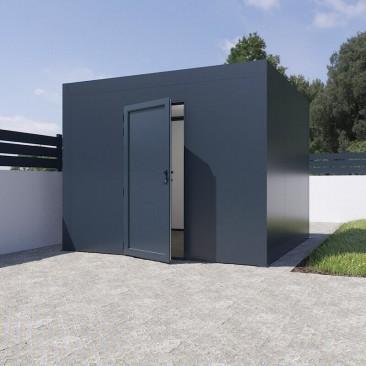 Abrigo de jardim telhado plano